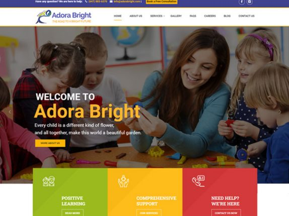 Adora Bright Website Design
