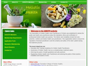 Association Of Holistic Health Care Practitioners Of Ontario