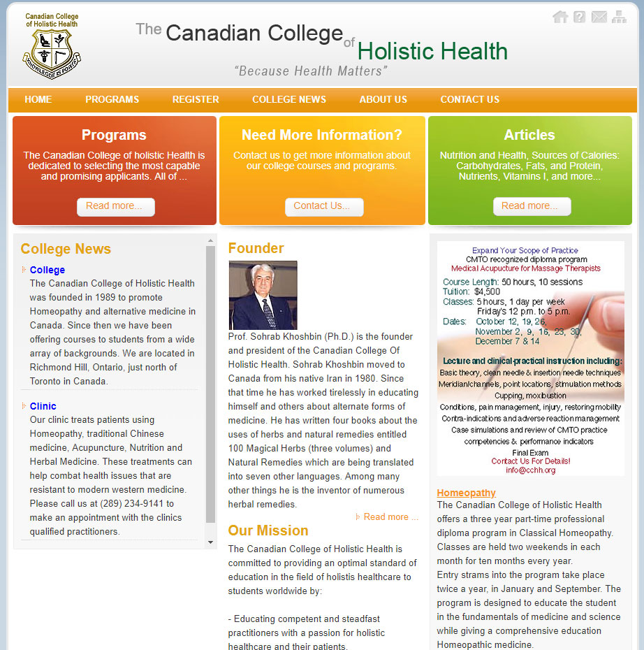 Canadian College Of Holistic Health