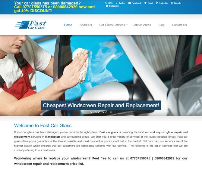 Fast Car Glass