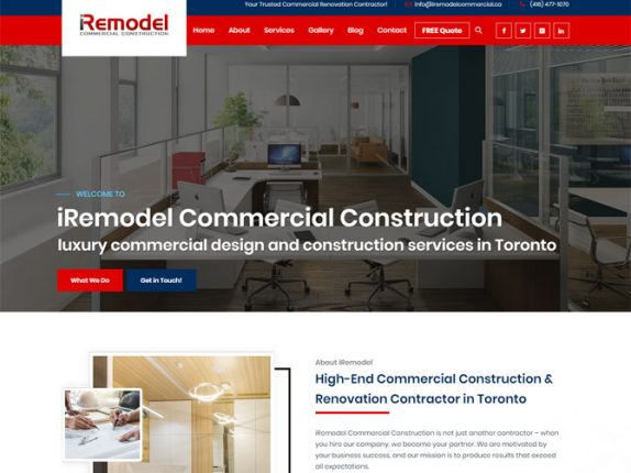 Iremodel Commercial Construction Website