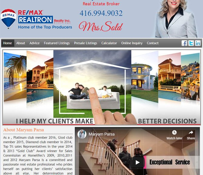 Maryam Parsa Sales Representative Homelife Real Estate