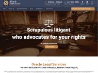 Orcale Legal Services Website Design