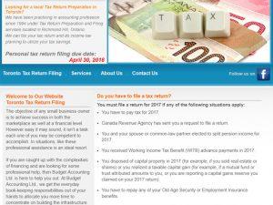 Richmond Hill Tax Return Filing