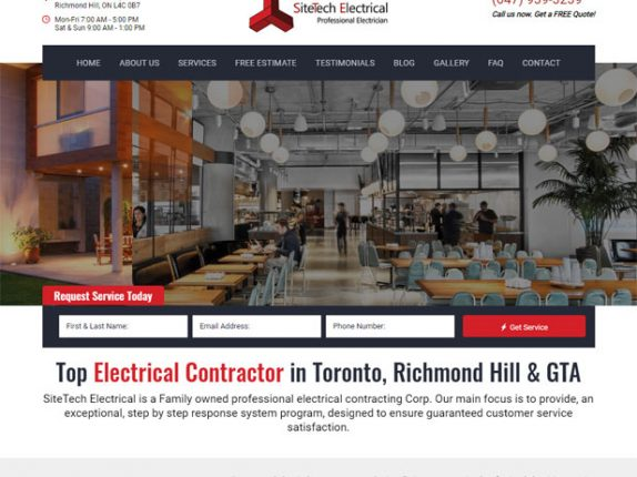 Sitetech Electrical Website