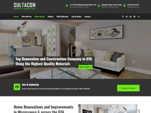 Sultacon General Contractor Website