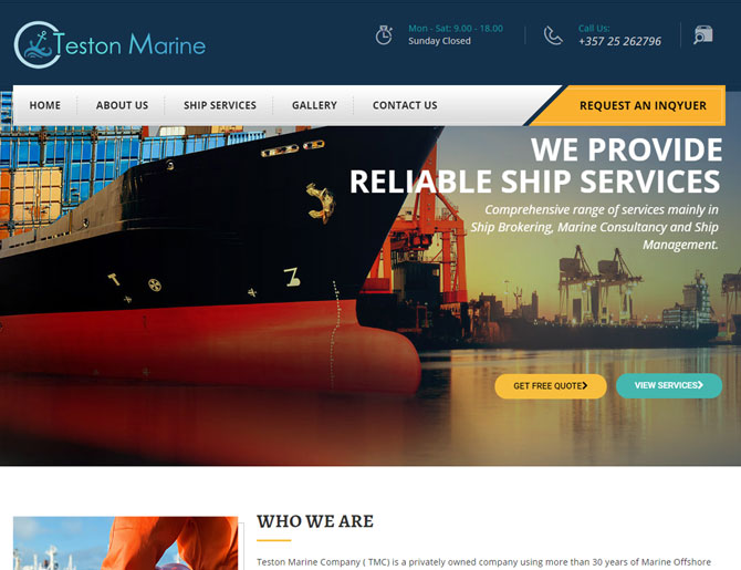 Teston Marine Website