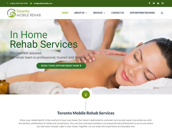Toronto Mobile Rehab Website