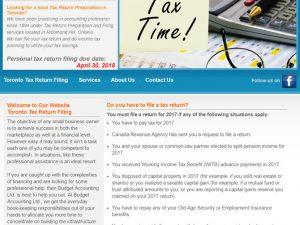 Toronto Tax Return Filing